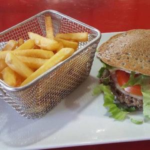 Burger breton Blé noir, steak et frites
